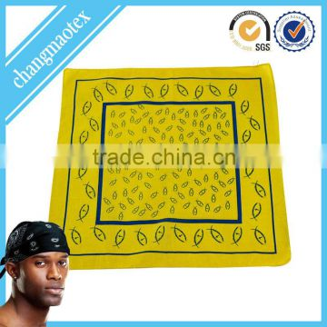 popular yellow cotton bandana headband