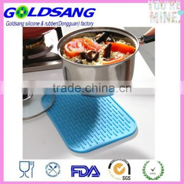 blue grey orange yellow silicone mat trivet tray pan table oven mat