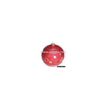 Floating Ornament Stem Red