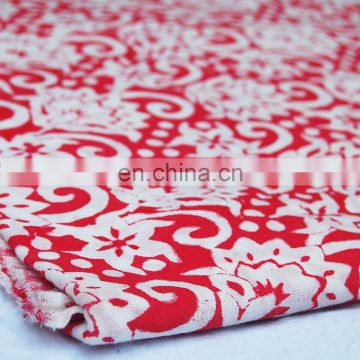 100% cotton hand printed fabric