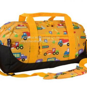 Full printed polyester travel bag with tote handle