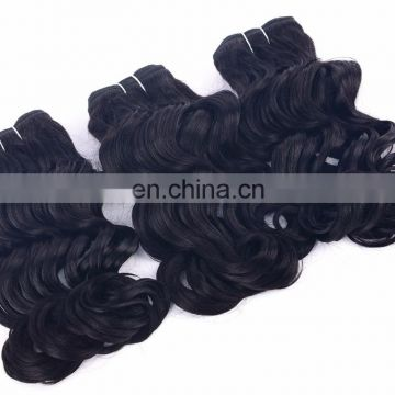 Raw Indian Virgin cuticle aligned hair natural color Water Wave human hair extensions