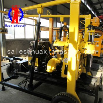 XYX-130 wheeled hydraulic core drilling rig core drill for sale Trailer drill rig