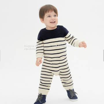 100% super soft organic cotton jersey baby jumpsuit, children's cotton pajamas in stock