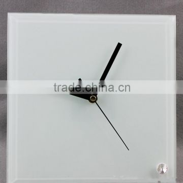 sublimation blank desk/wall clock for your own desgin glass/ crystal/wooden clock for heat transfer