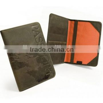 Wholesale leather passport holder leather passport cover card holder