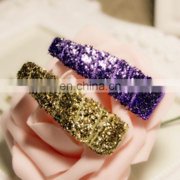 Sequin Glitter Sparkling Snap Clip Hair Pin For Baby Kids Photo Prop Festival Fashion