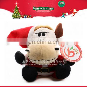 New design soft custom christmas low price cow plush toys