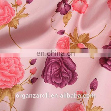 Custom high quality digital printed embroidered silk organza fabric