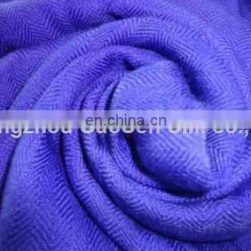 Worsted woven 140S/2* 60S/1 herringbone silk wool fabric