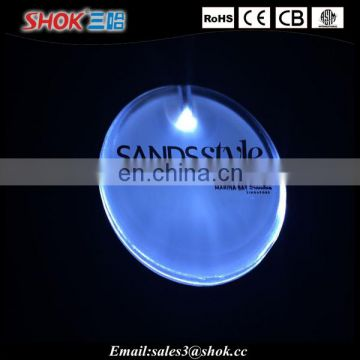 Custom Promotional Arcylic Flashing LED Pin With Logo