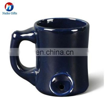 Multicolor Ceramic Tobacco Pipe Shape Mug Creative Smoking Pipe Mug