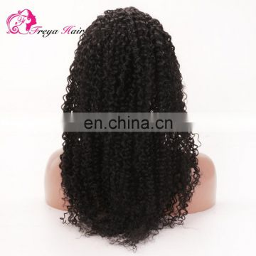 Freya Hair Trade Assurance Jerry Curl Remy Human Hair 100% Brazilian Virgin Hair Curly Wig For Black Women