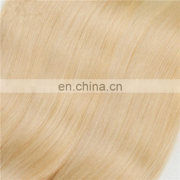 Top quality blonde color human hair extensions factory price peruvian hair weaving