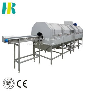 Vegetable blanching machine for potato chips