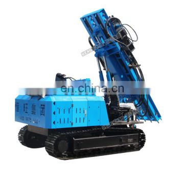 Hydraulic vibrating pile driver for steel barrier post installation