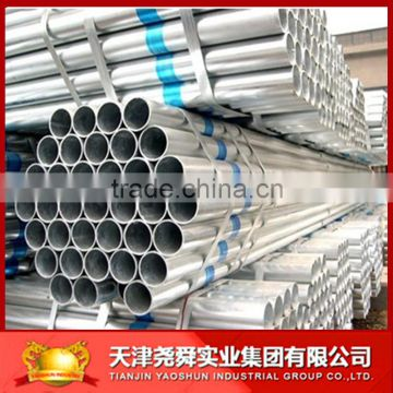 building material/hollow tube/metal/Structure large diameter fence thin wall Q195 Tianjin Galvanized steel pipe rectangular pipe