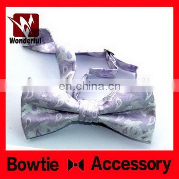 High quality promotional grey cotton bow tie