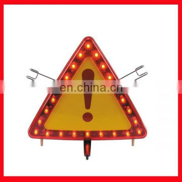 LED flashing light warning triangle/triangle caution sign/triangle road  signs/safety warning sign