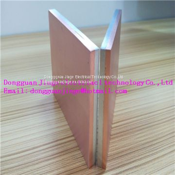 Copper aluminum composite clad electronic components