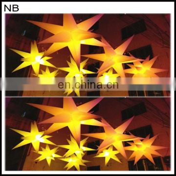 shiny beautiful different colors inflatable star inflatable balloon for event decoration