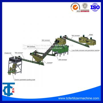 NPK Compound Fertilizer Roller Extrusion and Granulation Line