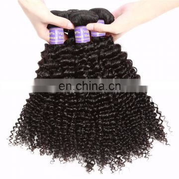 qingdao hair factory grade 8A afro curly indian virgin hair bundle