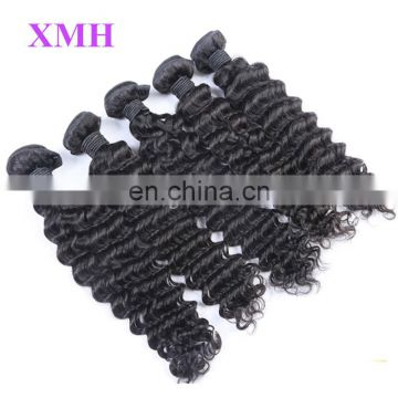 Wholesale cheap and high quality deep curly 100 Malaysian human hair extension for black women