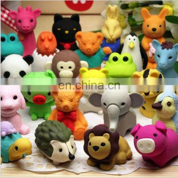 3D disassembled animal erasers Cartoon 3D earsers for kids