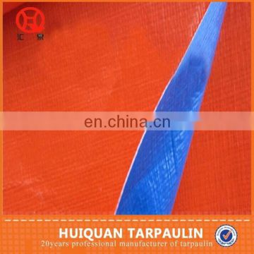 Other Fabric Product Type and Coated Pattern blue/orange PE tarpaulin