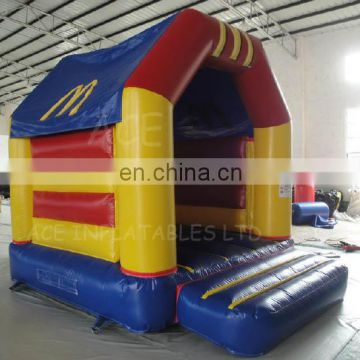 McDonald's theme inflatable bouncer,jumping castle customized with best quality, changeable colors and themes