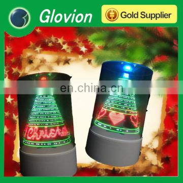 Glovion 3D USB led flashing Christmas tree for Merry Christmas