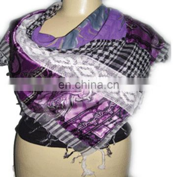 SQUARE SCARF WITH PATCH WORK DESIGNER ARAFAT SCARF