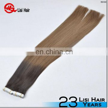 2014 best sell 8a 7a 6a quality 100% human hair made in china cheap tape hair extension