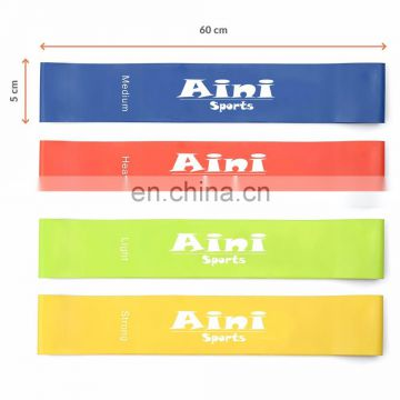 30cm length 4pcs set therapy bands loop,exercise fitness loop bands,latex fitness bands