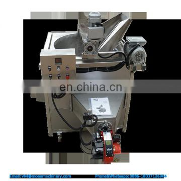 Industrial Automatic Gas Type Plantain Chips Deep Frying Machine Continuous Food Banana Chips Fryer