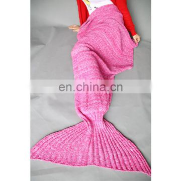 Fairy tale sea-maiden tail blanket knitted wool blend handmade nap blanket