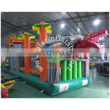 2016 Aier dragon inflatable obstacles/inflatable jumping and running sport land