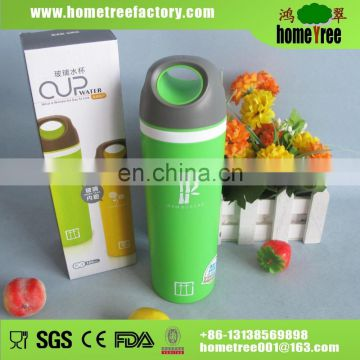 Hand Ring Lid Double Wall Vacuum Insualted Thermal Glass Inner Tumbler Water Cups