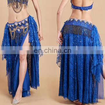 High sequin fabric shiny hot sexy belly dance long dress Q-6032#