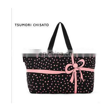 bowknot cotton tote Sundry receive bag