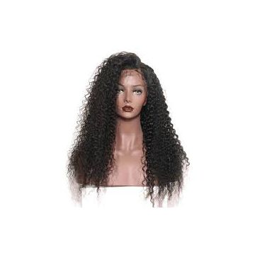 16 Inches Front Lace Human Hair Large Stock Wigs Silky Straight For White Women Mixed Color