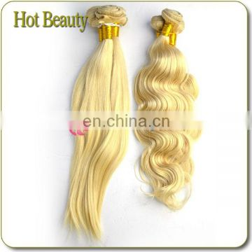 Top 7a Grade European #613 body wave virgin remy 40 inch blonde hair extensions