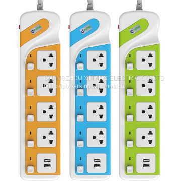 Hot Sale USB power outlet sockets.Adapters, Outlet Strip with surge protector