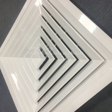 4 way supply square ceiling air diffuser with damper