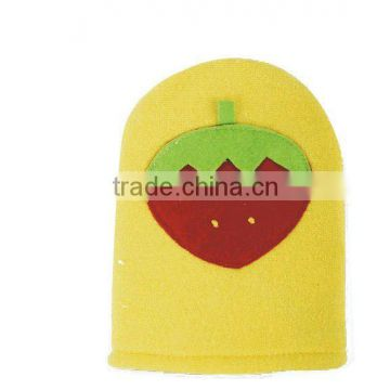 cute fruit bath scrubber/bath glove for kids