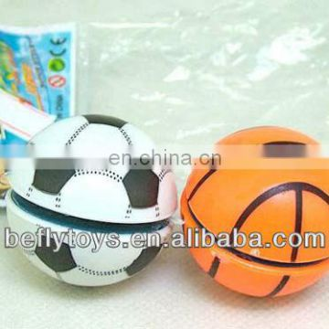 Plastic toy basketball football style yoyo ball