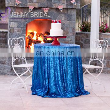 SQN#10 ocean blue sequin table overlay wedding table cloth sequin