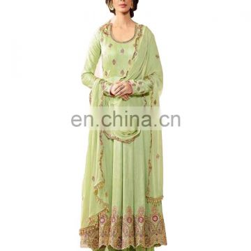 Women's Stylish Party Wear Anarkali Suits With Flairs 2017 (Semi Stitched)