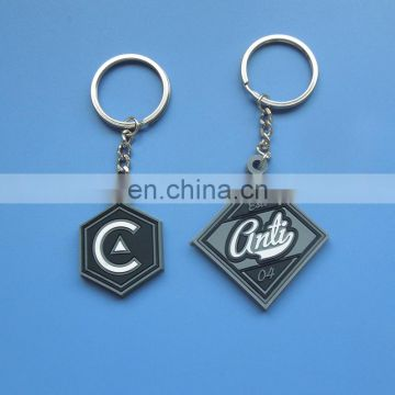 different shaped custom company logo design promotional gifts soft pvc keychain